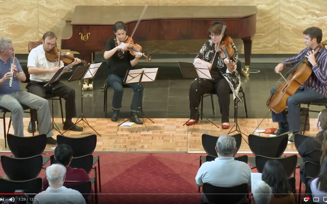 Australia Ensemble perform three works by Andrew Schultz on YouTube