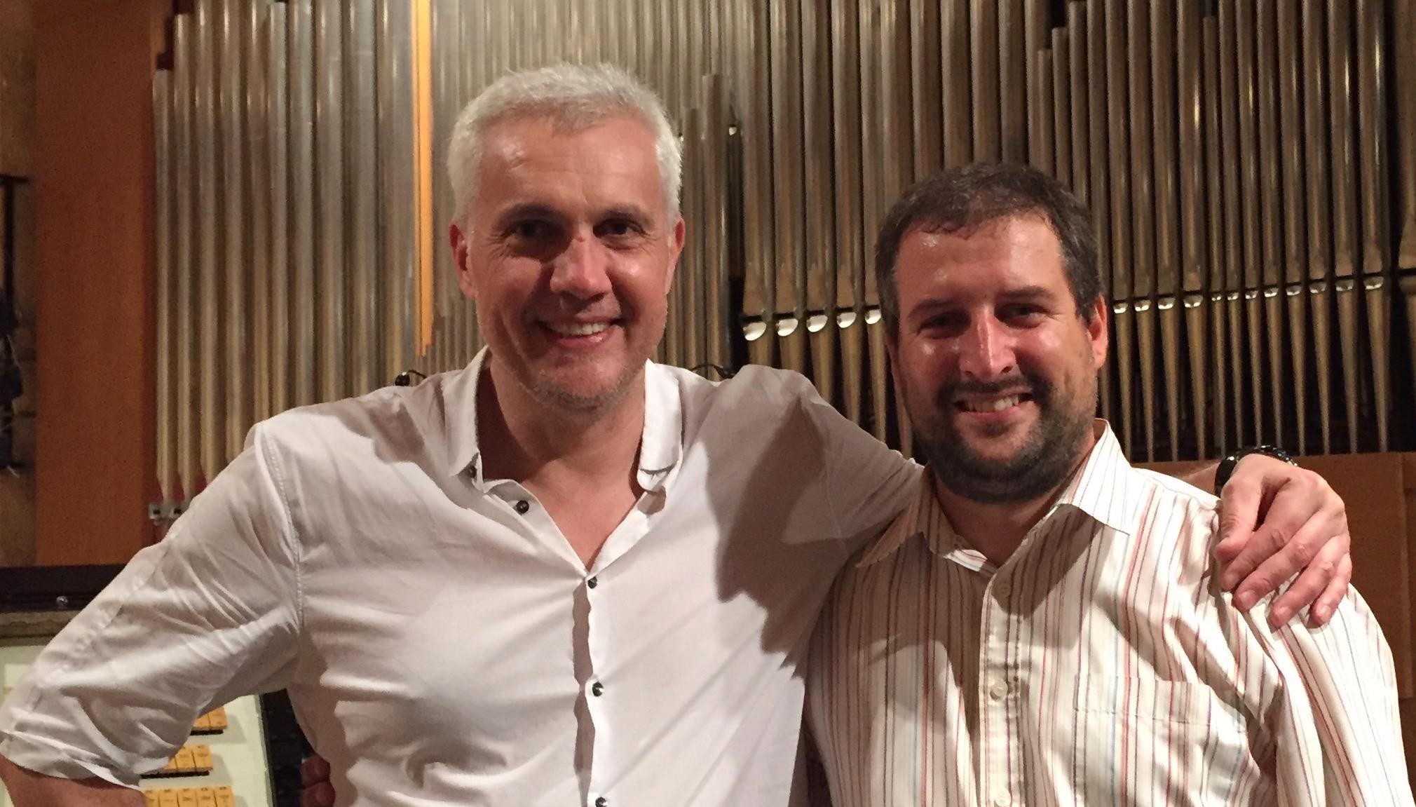 Andrew Schultz, left, and Karel Martinek in Ostrava, Czech Republic, September 2016